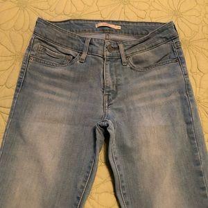 Levi's 711 skinny jeans in stone wash